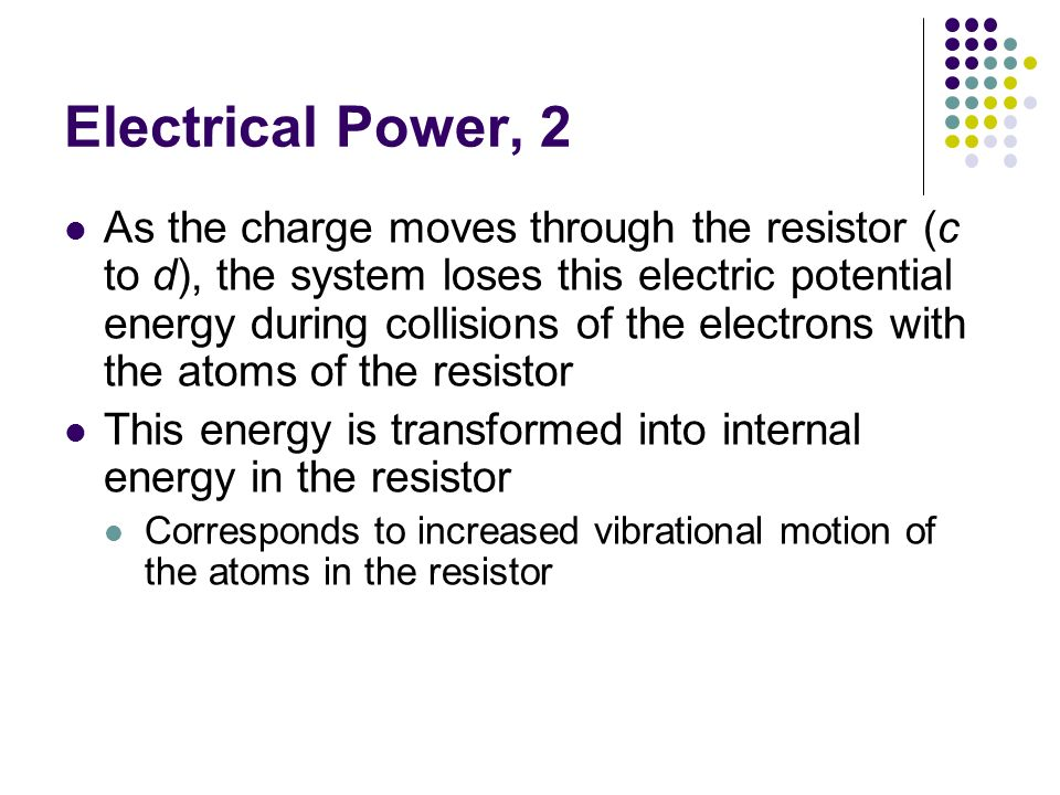 Electrical Power, 2