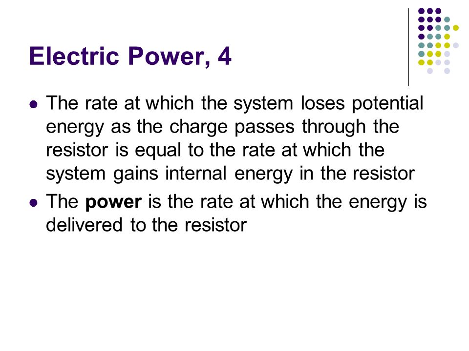 Electric Power, 4