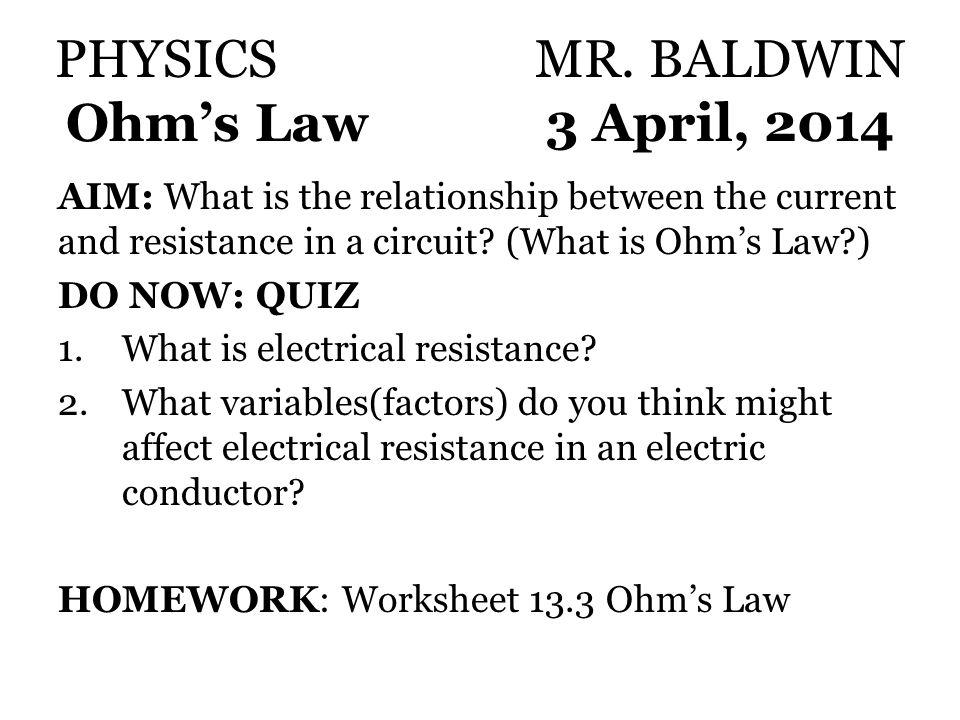 Ohms Law Electrician101