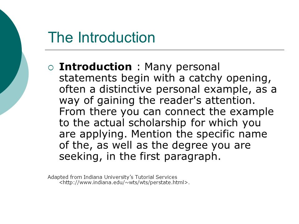 catchy introductions examples