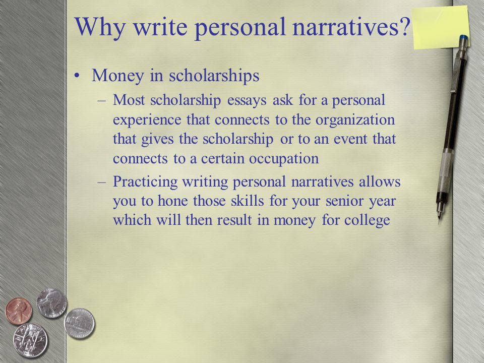 Personal Narrative  - ppt video online download