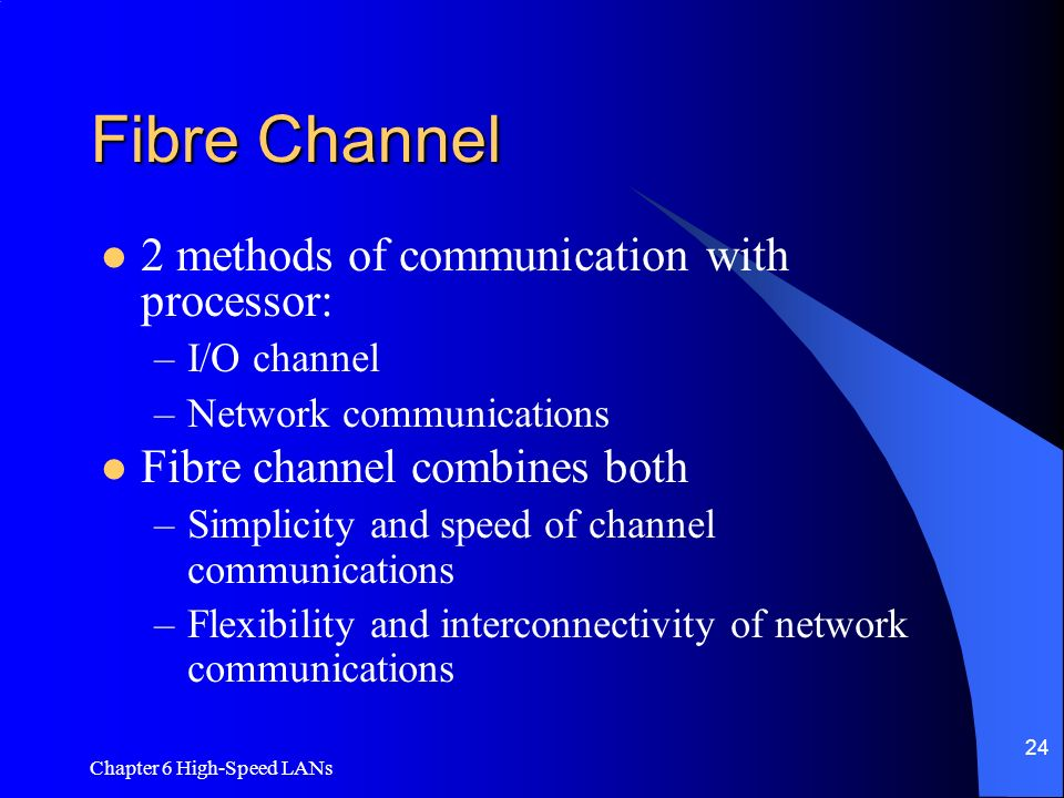 Fibre Channel 2 methods of communication with processor: