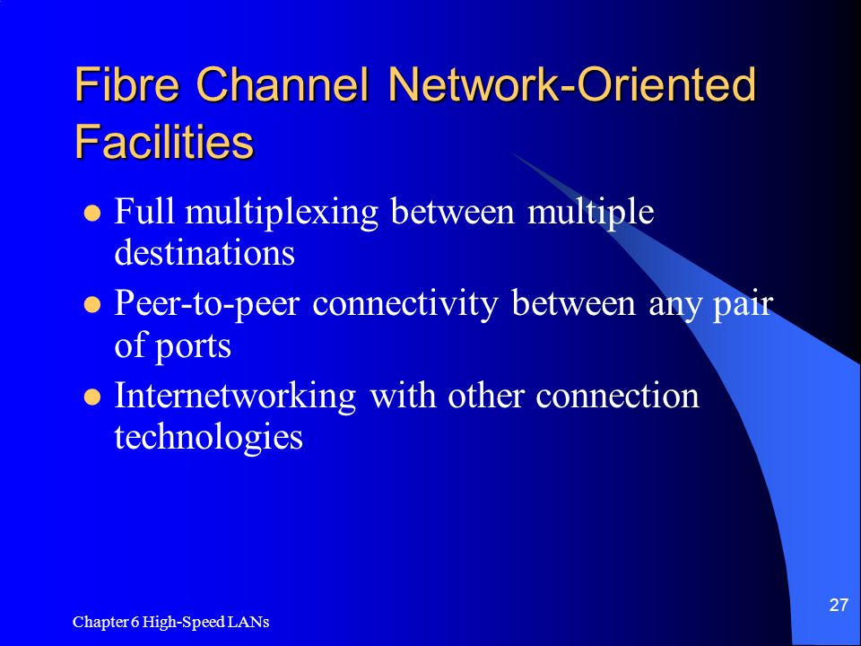 Fibre Channel Network-Oriented Facilities