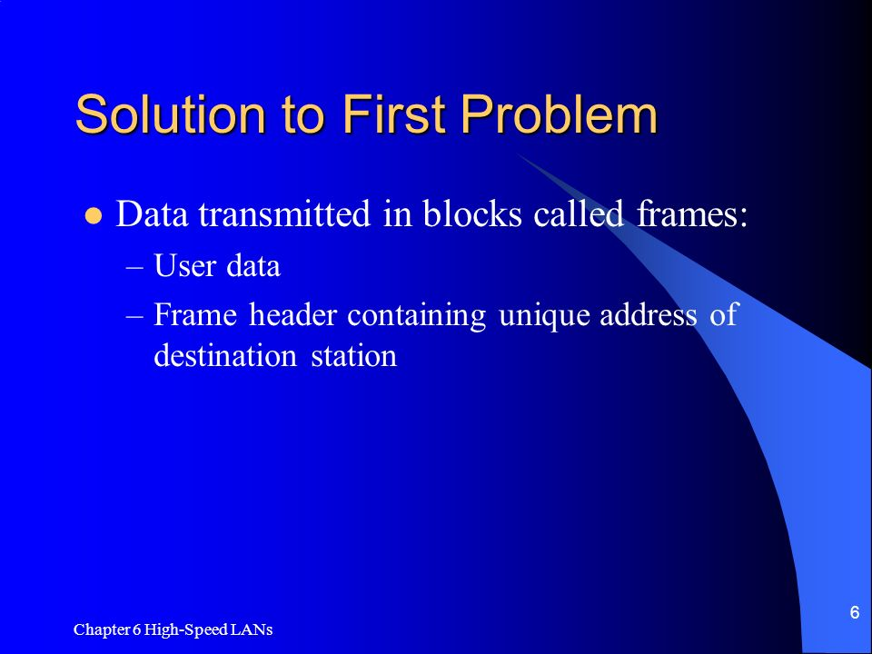 Solution to First Problem