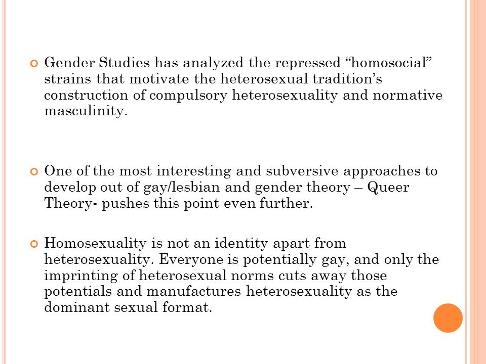 What is a heterosexual queer theory