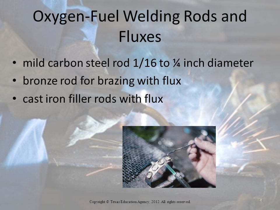 Oxygen-Fuel Welding Rods and Fluxes