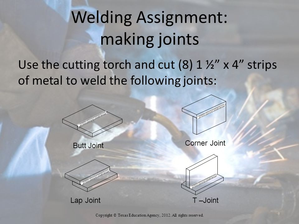Welding Assignment: making joints