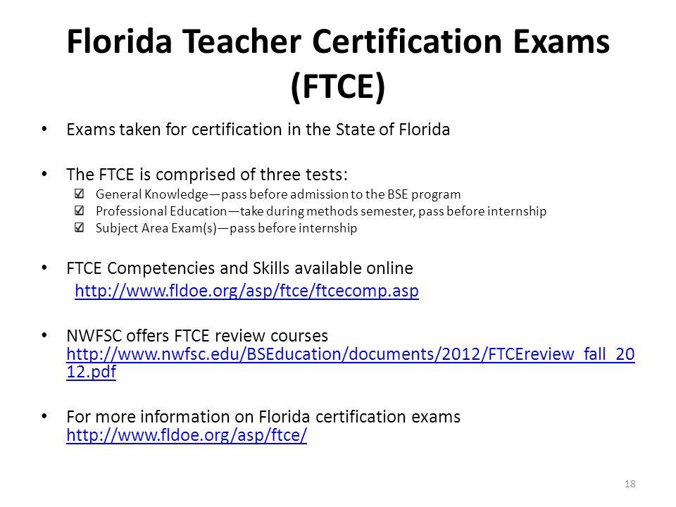 Lujoso Florida Educator Certification Foto - Cómo conseguir mi ...