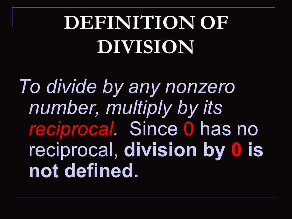 DEFINITION OF DIVISION