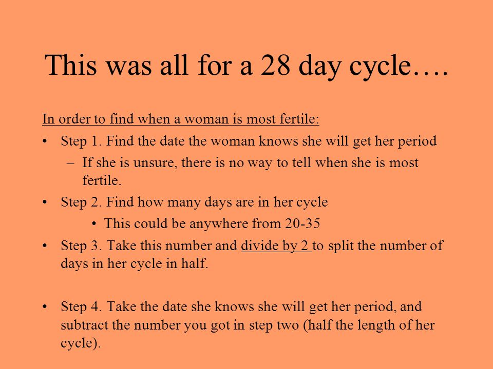 This Was All For A 28 Day Cycle