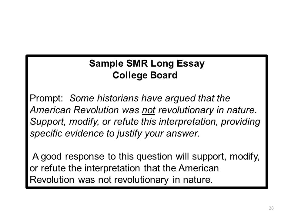 essay questions american revolution