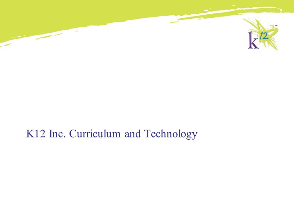 K12 Inc  Overview  - ppt video online download