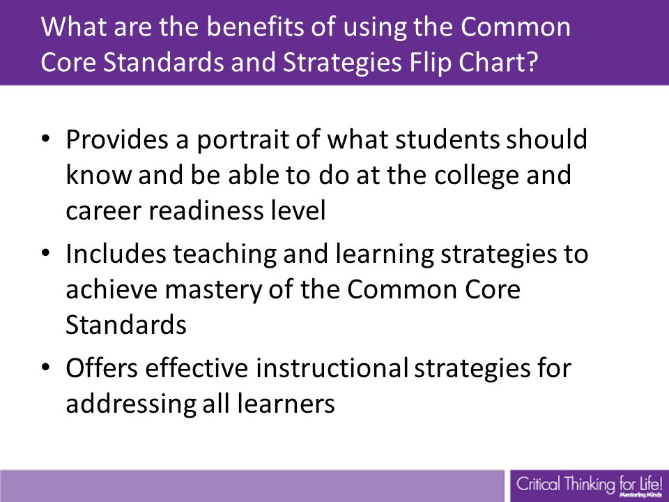 Common Core Standards And Strategies Flip Chart Ppt Video Online