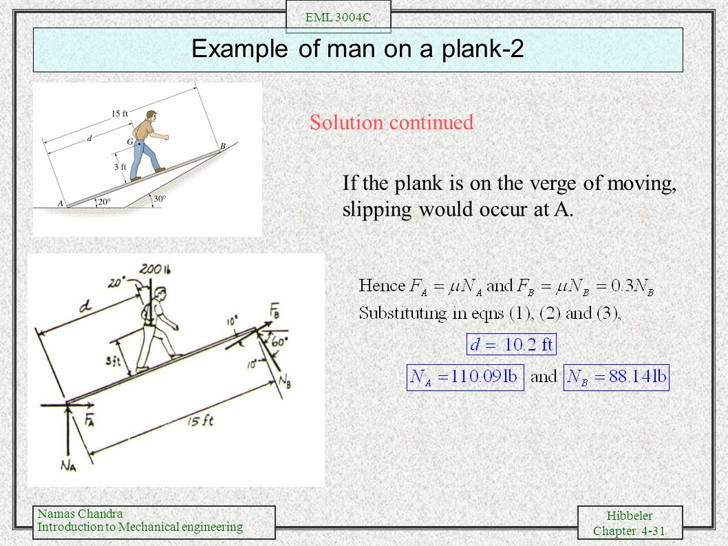 Chapter 4 Equilibrium Means Balance Of Forces To Ry Piping Diagram Continued 31 Example