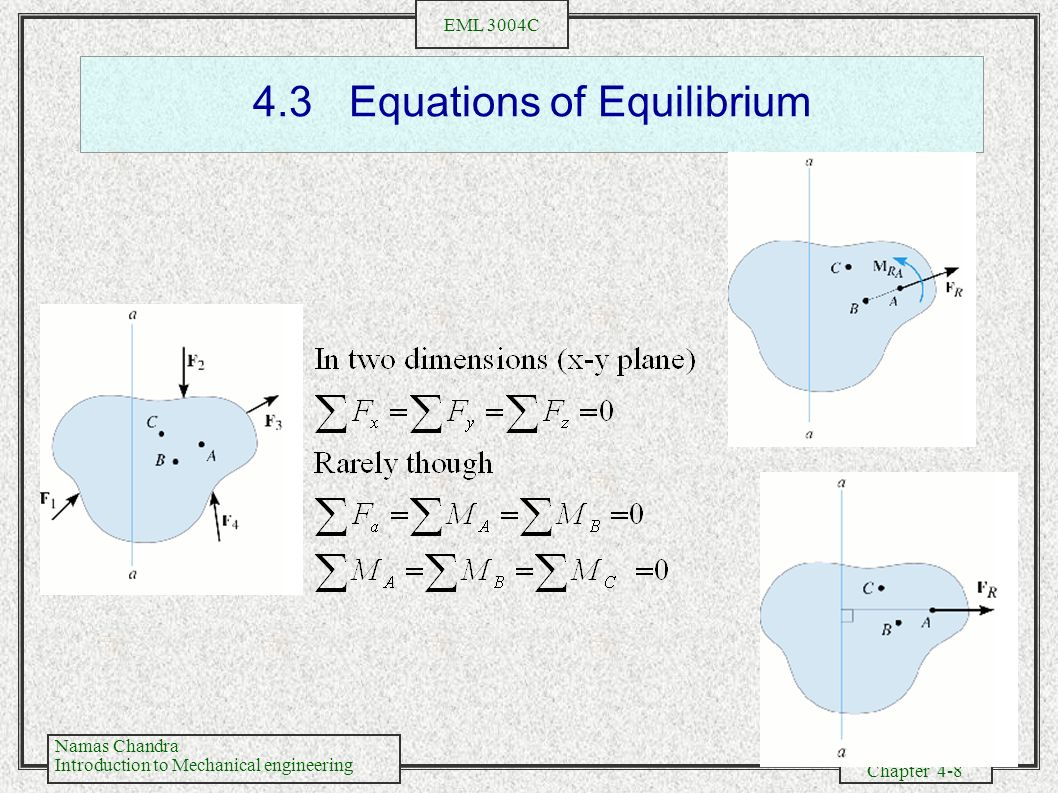 4.3 Equations of Equilibrium