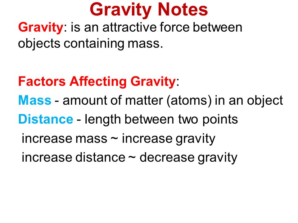 Gravity Notes