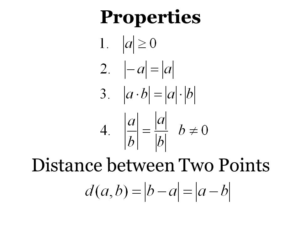 Distance between Two Points