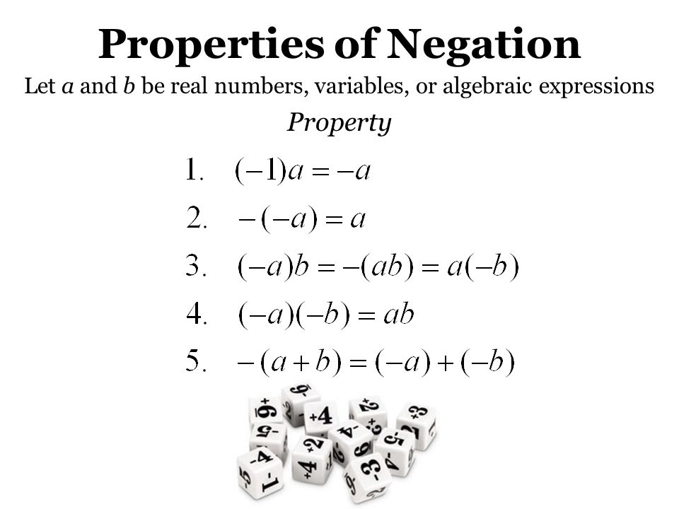 Properties of Negation