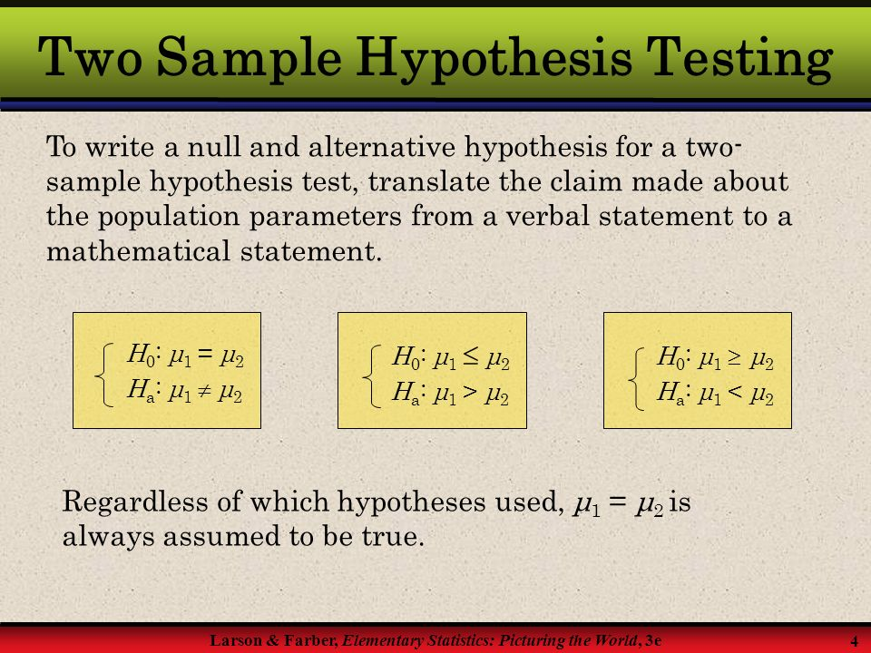 Two sample t test chapter ppt download.
