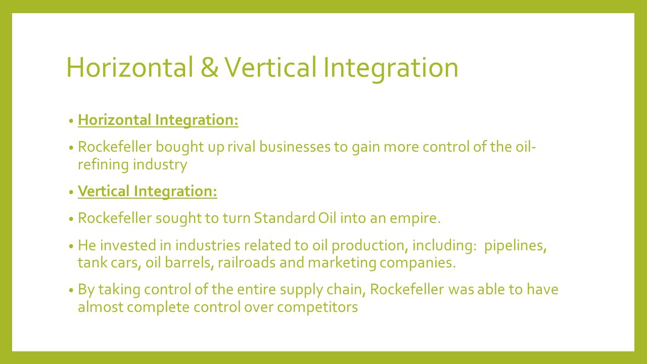 horizontally integrated supply chain