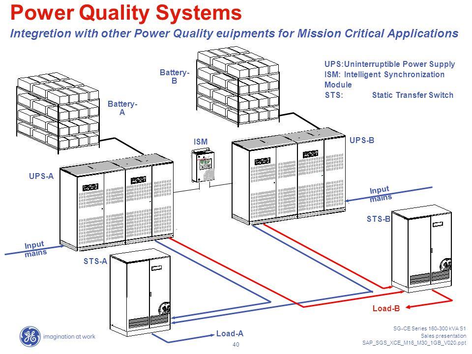 ups sg-ce series kva sales presentation