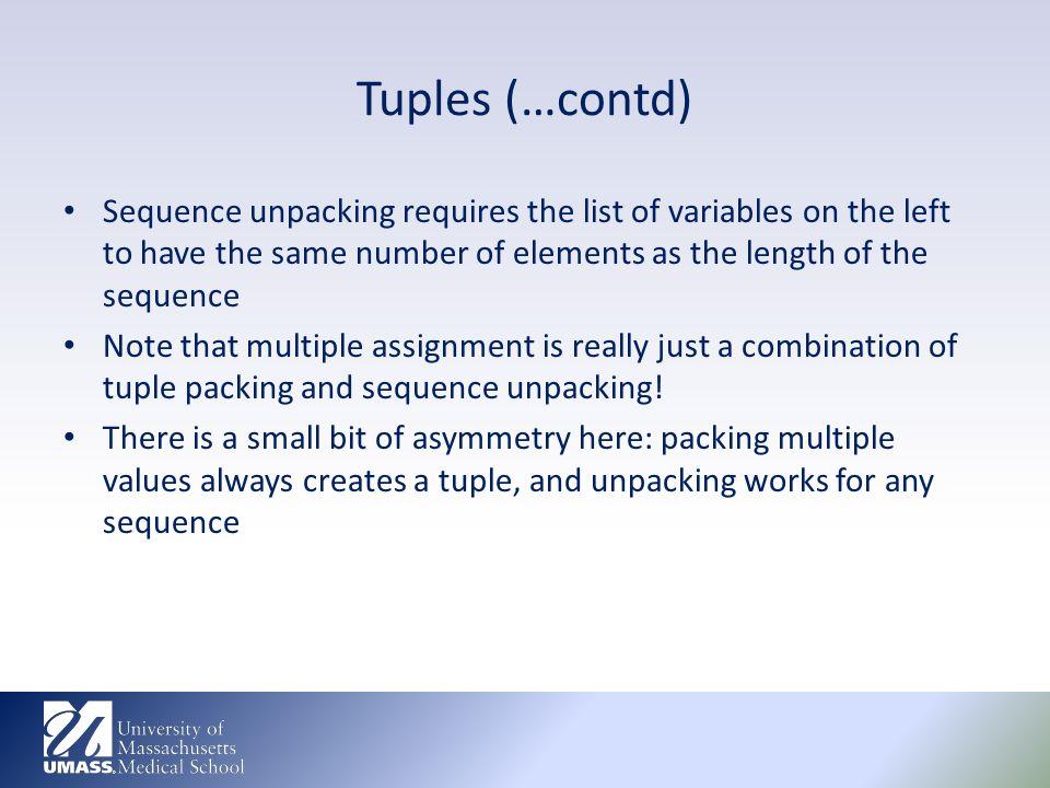 how to create a tuple list