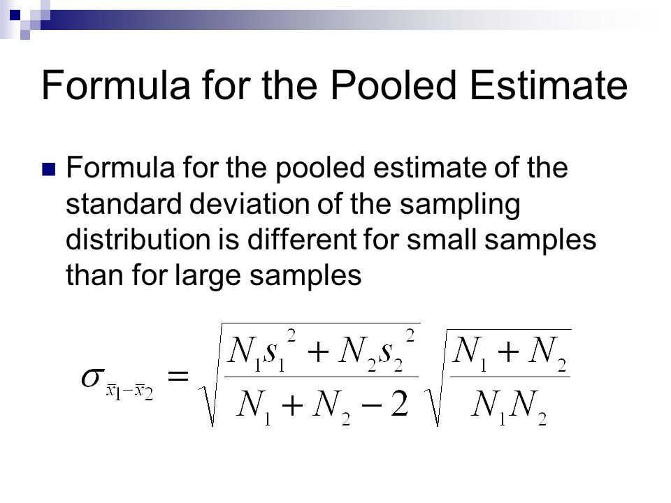 Formula for the Pooled Estimate