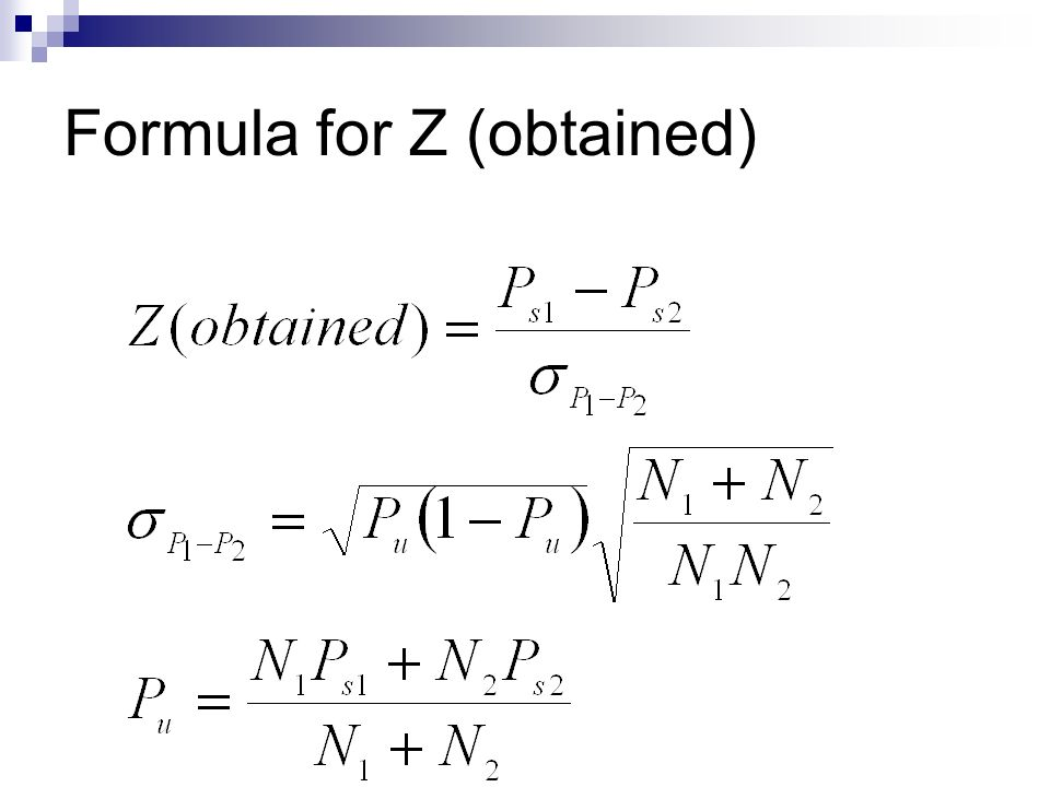 Formula for Z (obtained)