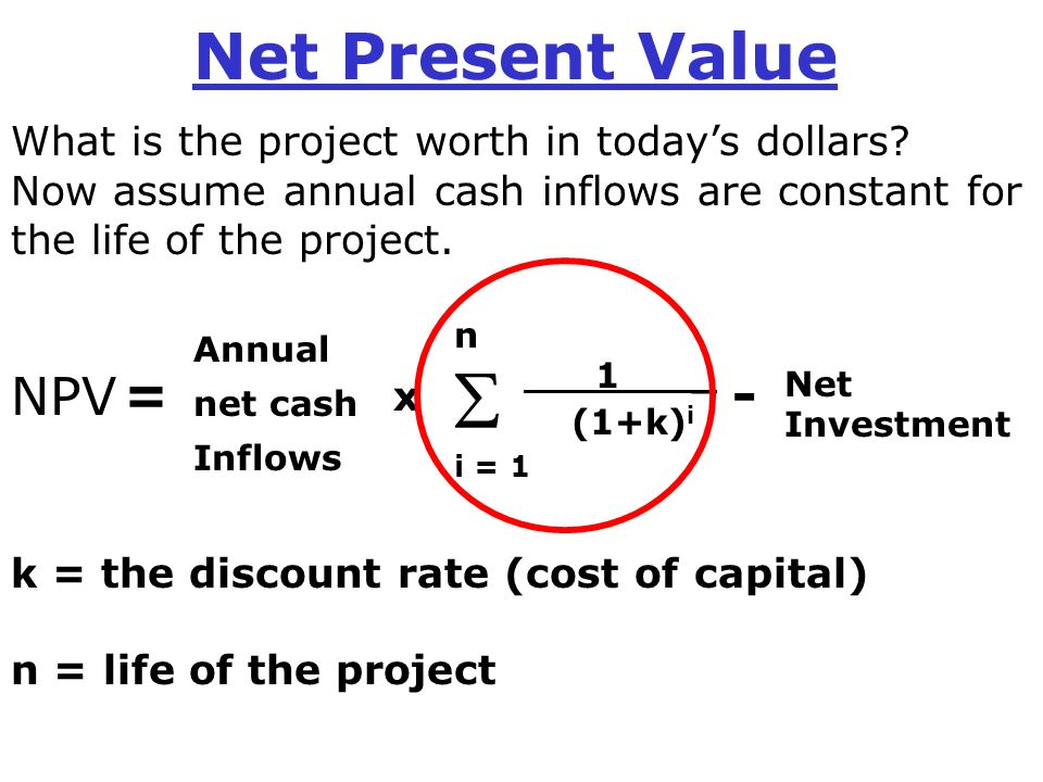 a comparison of eva and npv When the cost of capital is used as the discount rate in net present value analysis, any project with a negative net present value does not cover the company's cost of capital and should be discarded as unacceptable.
