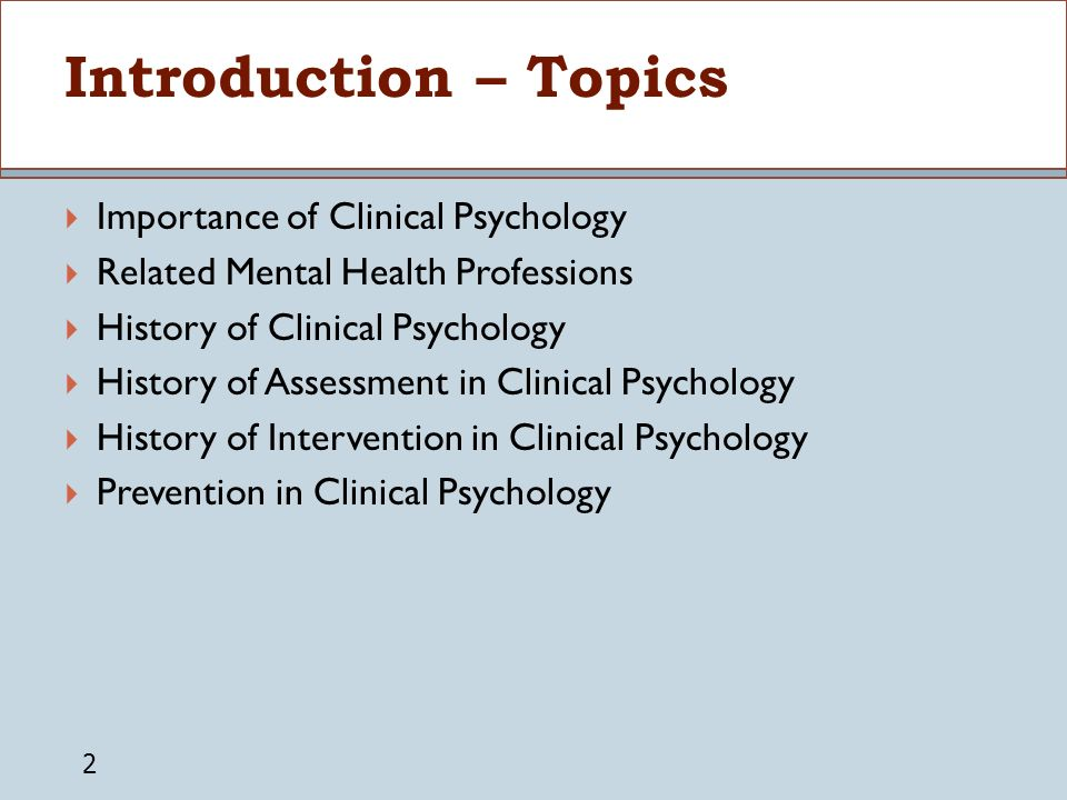 psychology related topics for presentation