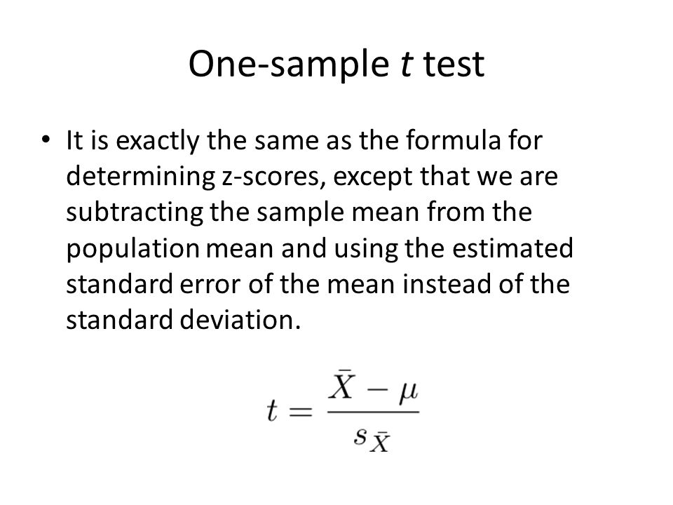 One-sample t-test in reasy guides.