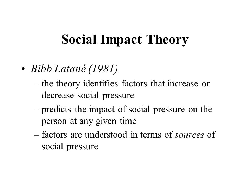 bibb latane Bibb latane contemporary american social psychologist who, along with co-researcher john darley, is best known for his pioneering studies of bystander intervention in emergency situations stanley milgram.