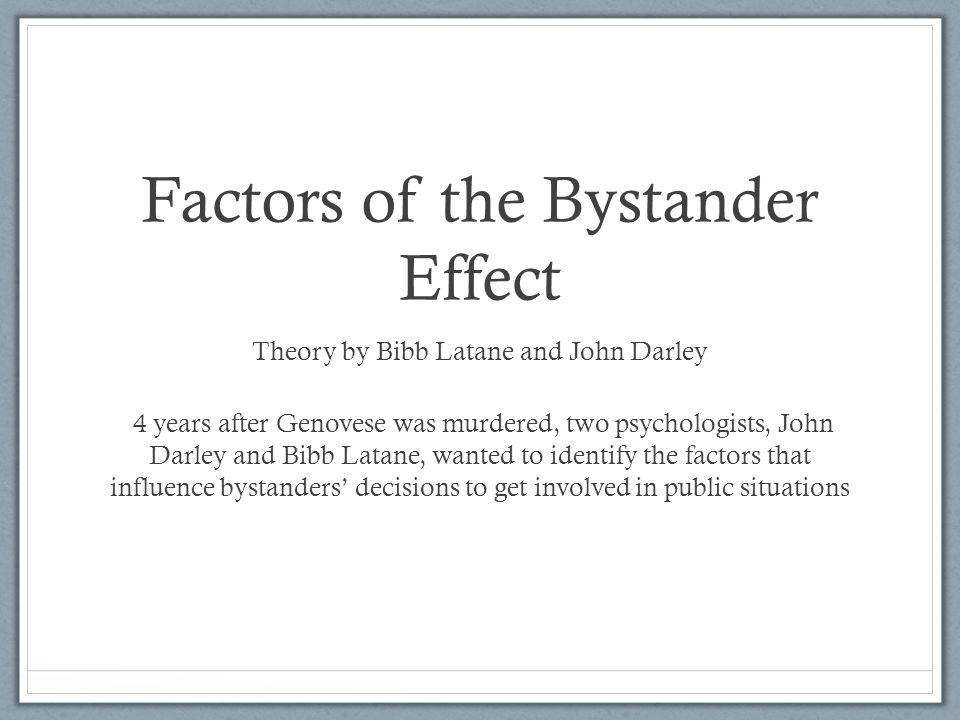 why is the bystander effect important