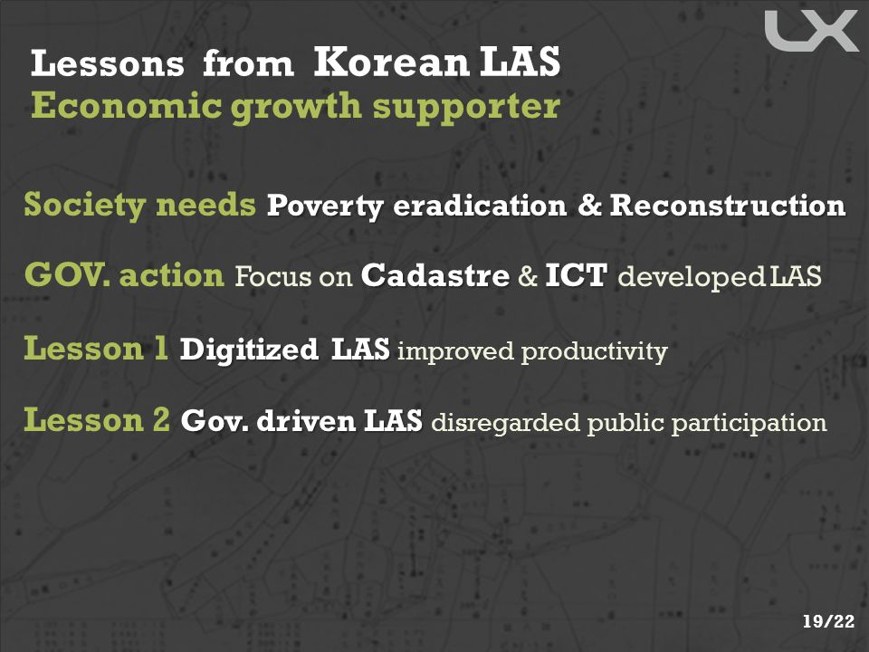 Lessons from Korean LAS Economic growth supporter