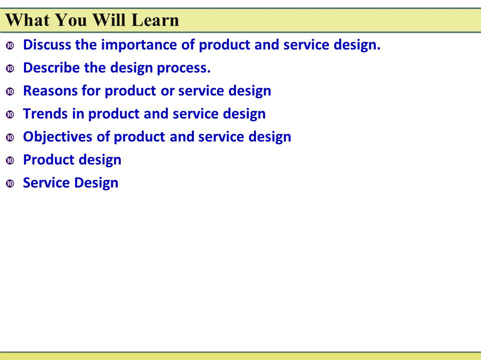 Chapter 4: Product and Service Design - ppt video online