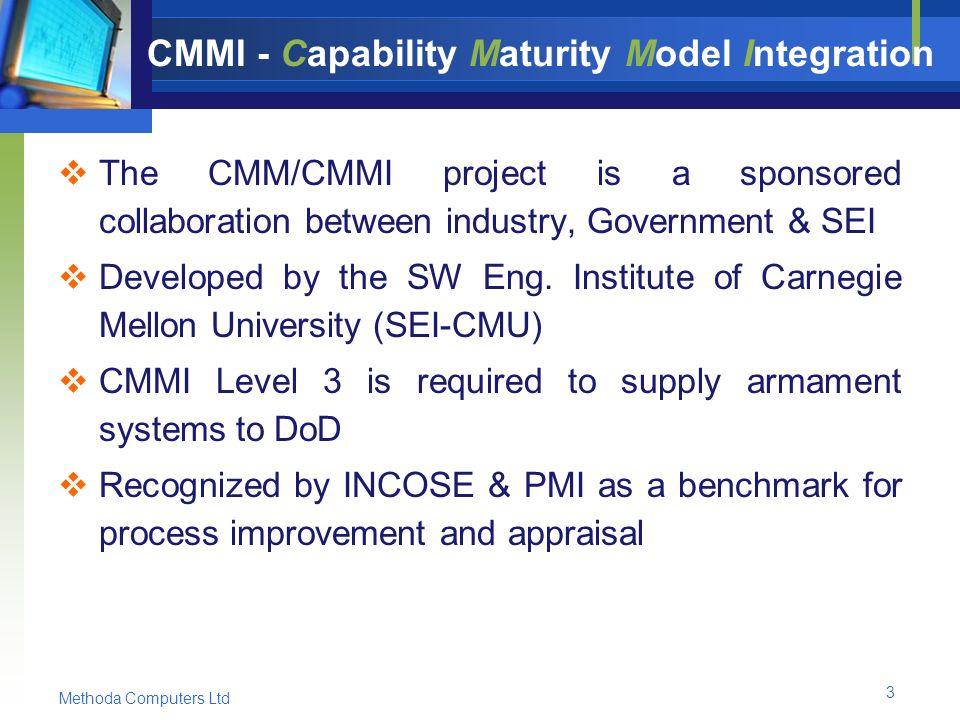 Capability maturity model integration cmmi
