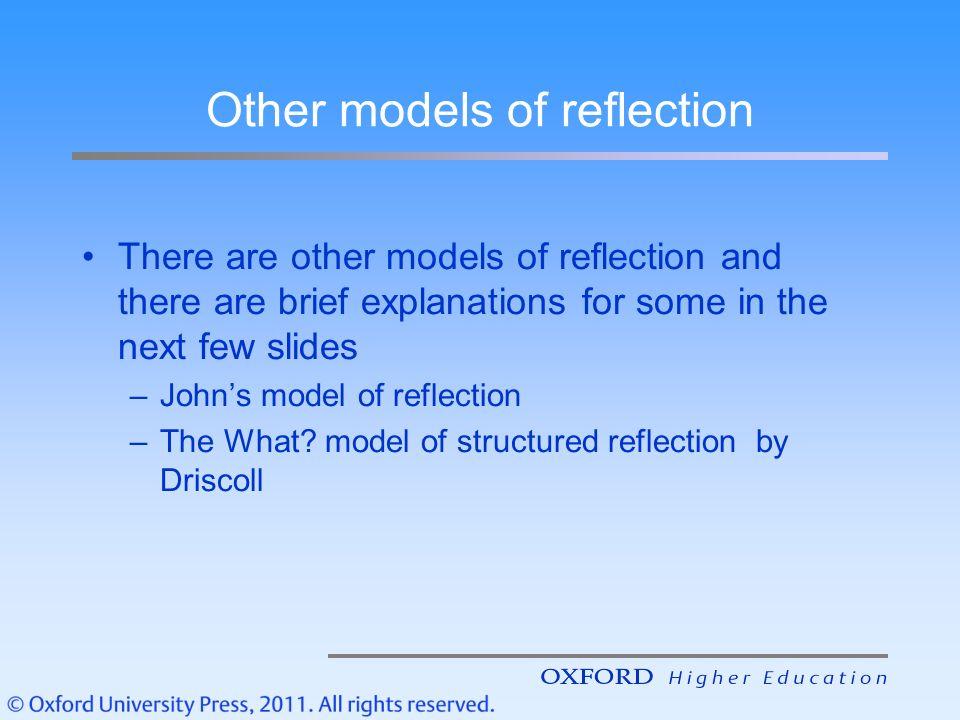 johns model reflection