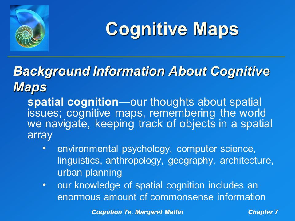 Cognitive mapping city planning