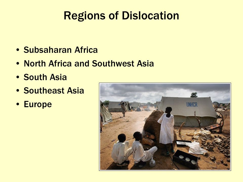 Regions of Dislocation