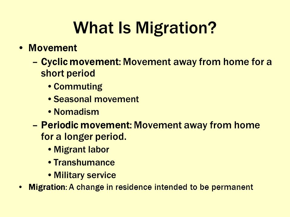 What Is Migration Movement