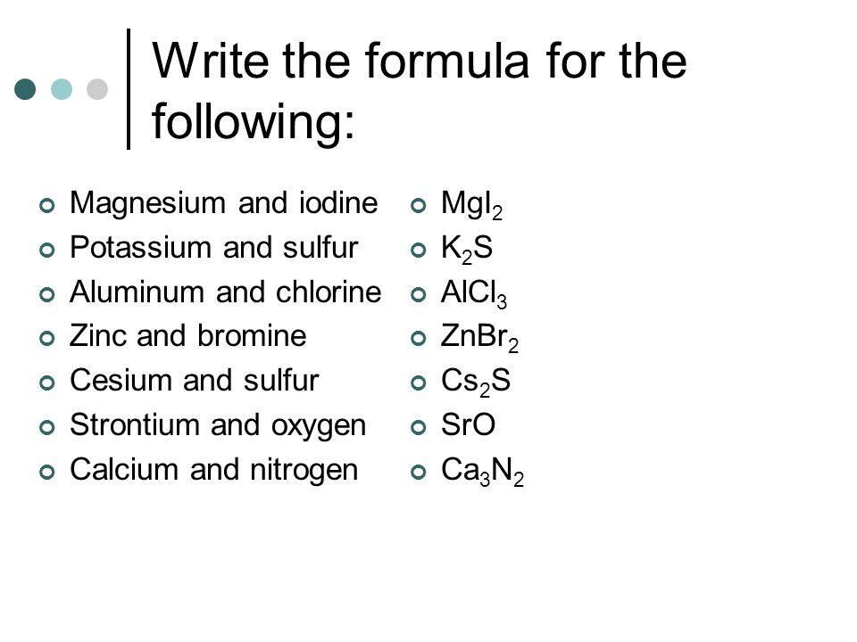 Chapter 7 Chemical Formulas And Chemical Compounds Ppt Video