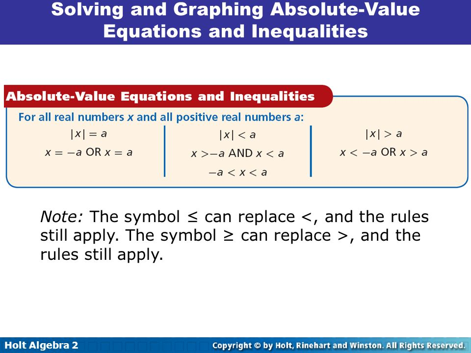 how to solve inequalities and equations