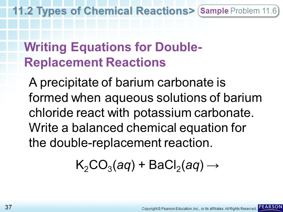 Chapter 11 Chemical Reactions 112 Types Of Chemical Reactions Ppt