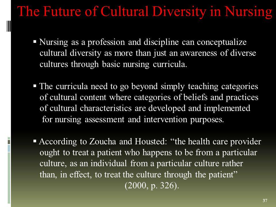 cultural diversity in nursing profession