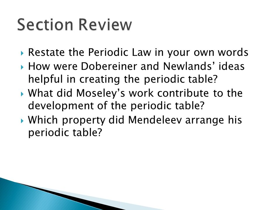 Chapter 5 The Periodic Table Ppt Download
