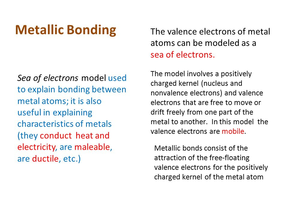 Three Types Of Bonding 1 Metallic 2 Ionic 3 Covalent Ppt