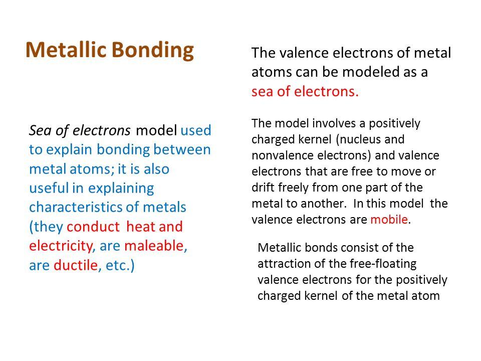 Three Types Of Bonding 1 Metallic 2 Ionic 3 Covalent Ppt