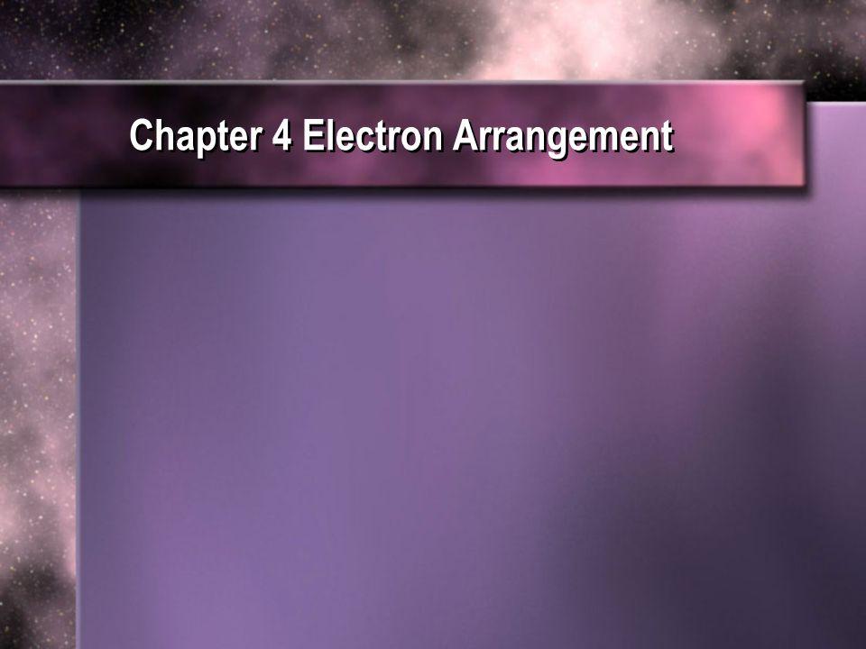 Chapter 4 Electron Arrangement Ppt Download