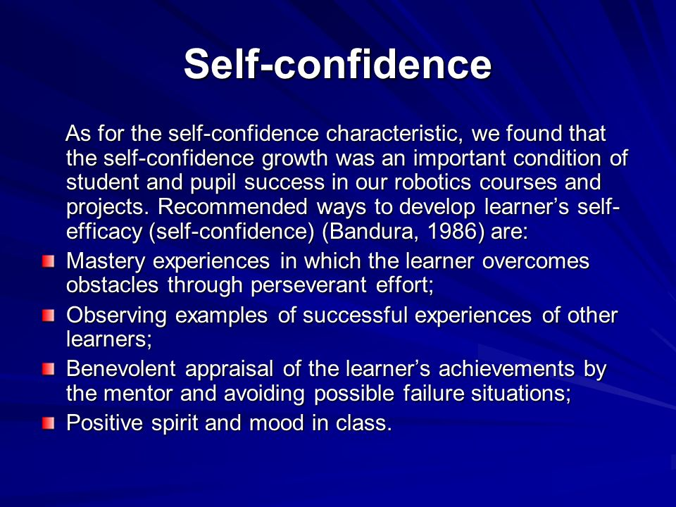 how to develop self efficacy