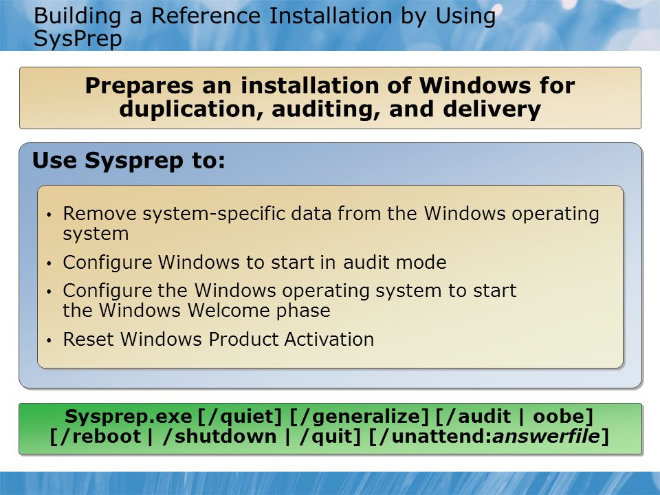 Module 1: Installing, Upgrading, and Migrating to Windows 7 - ppt